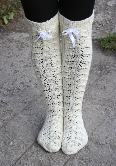 Knitted wool stockings